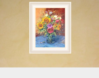 Flowers Painting Still Life Painting Oil Painting Original Painting