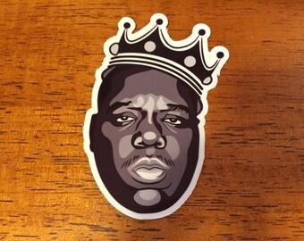 "Notorious Big vinyl Sticker 4"" Rap Hip Hop Music biggie smalls Tupac Game crown"