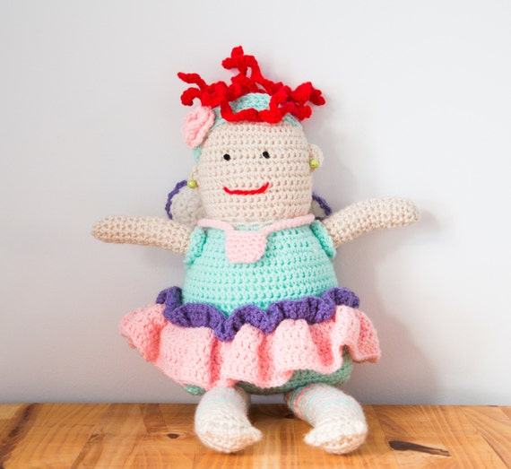 Crochet Tooth Fairy Doll with tooth pocket