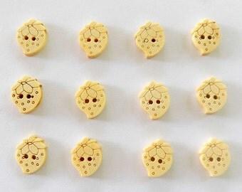 12 Strawberry Buttons DIY - #DIY-00002