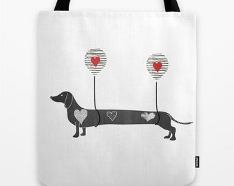 Dachshund Dog Tote Bag Small Medium Large Animal Lovers Gift Ideas Mom Daughter Girlfriend Birthday Teenagers Canvas Beach School Grocery