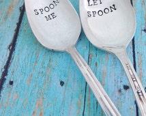 Let's Spoon or Spoon Me Vintage Silver Plated Teaspoon