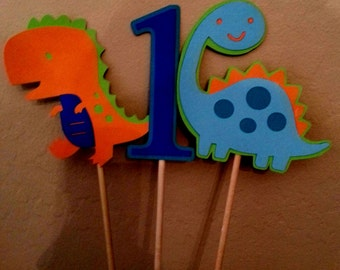 Dinosaur Birthday Party Centerpieces/Toppers