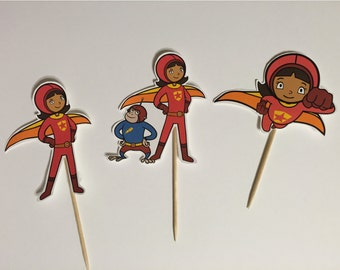 Word Girl cupcake toppers