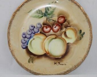 Vintage Enesco Decorative Painted Fruit Collector's Plate