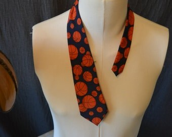Vintage TODDLER's Basketball Full Length Necktie