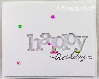 Clean and Simple Happy Birthday Shaker Card