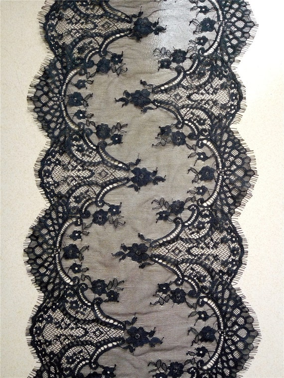 Black lace runner 10 quot lace table runner wedding table runners navy
