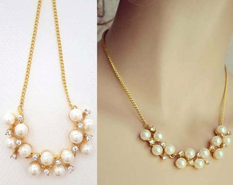 Pearl Necklace, Gold