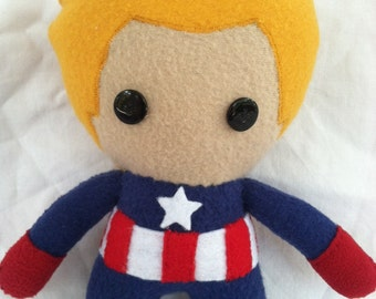 Marvel Captain America Fleece Plush Doll