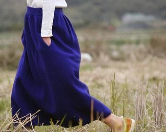 Blue/Pink wool skirts BonLife