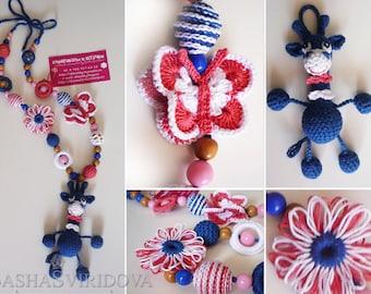 Butterfly Giraffe Nursing necklace Breastfeeding necklace Teething toy