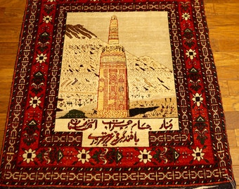 Afghan Genunine Hand Knotted Pictorial Rug Collectors item