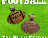 Embroidery Machine Download Design File - Football Bag Tag Key Fob
