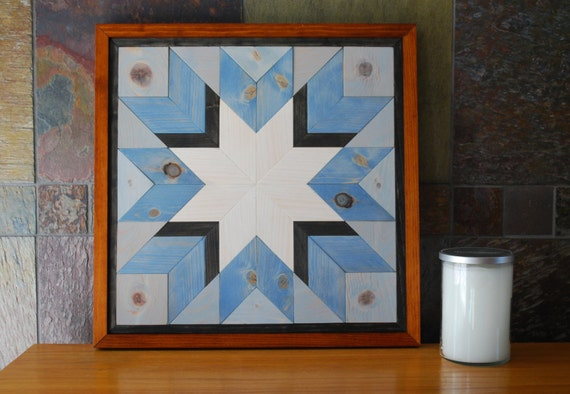 Quilt Star Wood Wall Art Rustic Wall Decor Amish Quilt Star