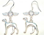 GREYHOUND Silver Earrings, 3D Greyhound Charm, Greyhound Lover,