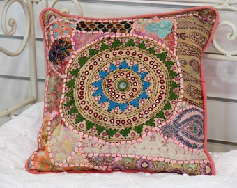 Vintage Wedding Sari Cushion