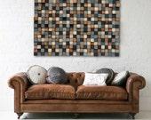 Sticker bois - bois sticker - récupéré bois Art Sculpture - Art mural rustique