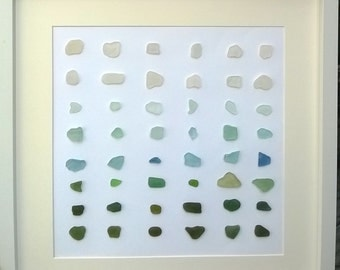 Sea Glass and Pebble Art, Limited Edition, Shades