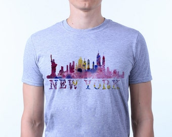 NYC Urban New York City Skyline T-shirt Top