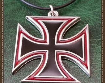 Maltese Iron Cross Necklace