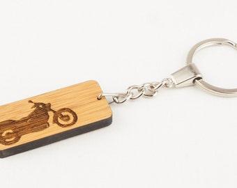 Motorbike Keyring, Biker Keyring, Biker Gift, Motorbike Key Chain, Motorcycle Key Fob, Personalised Keyring