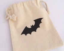 Bat Party Favor Bag: Black Bat Favor Bags, Batman Favor Bag, Halloween Favors