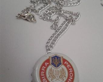 Peroni Bottle Cap Chain Necklace