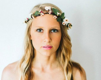Blush Simple Flower Crown