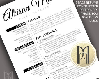 resume template and cover letter template professional creative modern resume template word pages