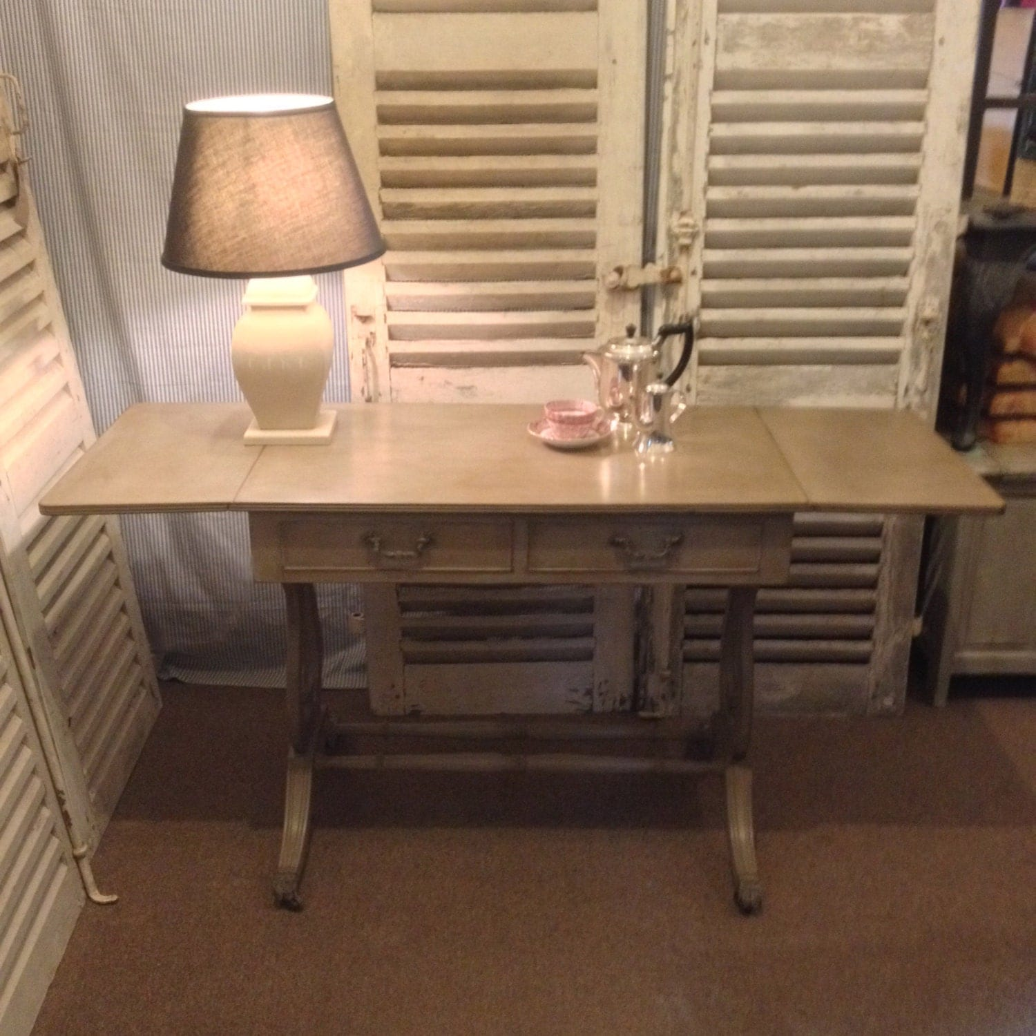 Vintage Grey Hand Painted Console Table Hall Table Side