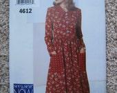 UNCUT Misses / Misses Petite Dress - Size L to XL - Butterick Pattern 4612