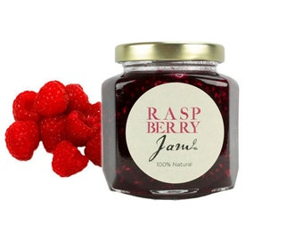 Gourmet Raspberry Jam // All Natural // New Hampshire Home Grown // 6 oz