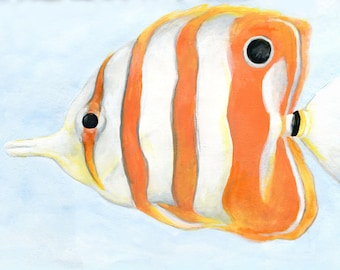 Striped Fish Placemat, Set of Two, 12 x 18