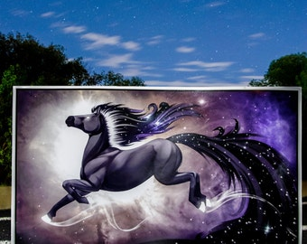 Day Horse ~ Illustration Print - night sky, galaxy