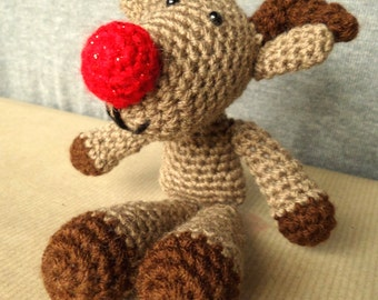 Amigurumi Reindeer Christmas Decoration
