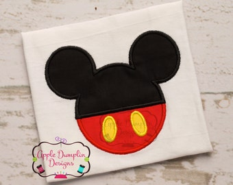 Cute Mickey Mouse Head Machine Embroidery Appliqué Design, Boy, Girl, Birthday, Party, Monogram, 4x4, 5x7, 6x10, 9x9