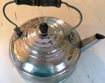 Vintage Revere Large Aluminum Tea Kettle