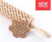Ich Liebe Dich - geprägt, graviert Nudelholz für cookies