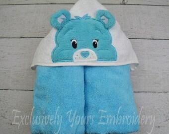 Blue Bear Children's Hooded Towel - Baby Towel - Childrens Hood Towel - Bath Towel - Beach Towel - Personalized Towel - Character Towel