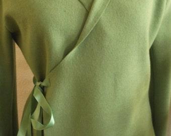 Walking jacket with shawl collar light green Gr.M