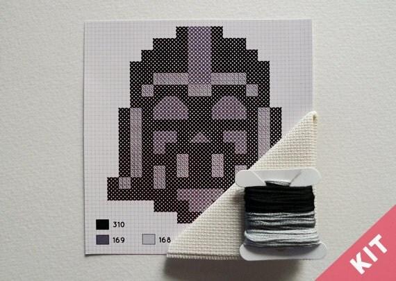Mini Cross Stitch Kit - Darth Vader - Star Wars