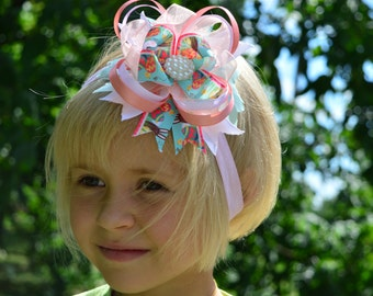 Stacked hair bow Girls hair bows Boutique hair Bow for girls Large Hair Bows Headband bow Big hair bows Birthday bow Over the top bow
