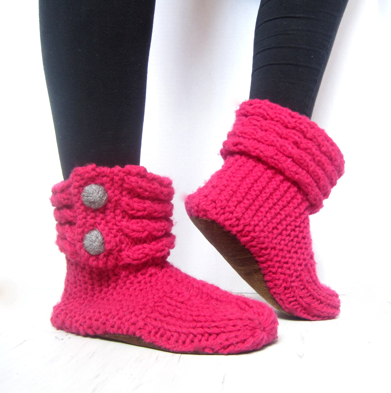 Womens House Slippers with Soft Soles Womens Knit Slippers