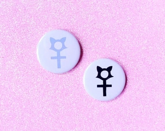 "Feminist Cat Lady - 2.25"" Button Pin Badge"