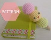 PATTERN, amigurumi dango pattern, crochet plushie PDF pattern instant download