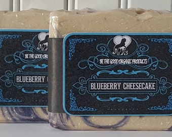 Natural Organic Handmade Soap -- Blueberry Cheesecake Organic Soap