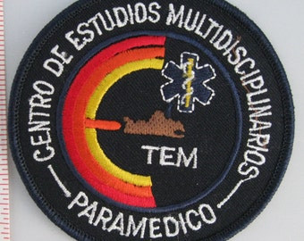 Multidisciplinary Studies Center Sew On Patch - Emergency Service Patrol Sew-On Patch - Paramedic Sew On Patch - Embroidered Applique Patch