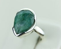 SIZE 6 AFRICAN EMERALD (Nickel Free) 925 Fine S0LID Sterling Silver Ring & Free Worldwide Express Shipping r1251