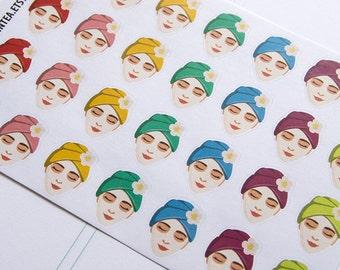 28 spa stickers, beauty sticker, planner stickers, manicure pedicure, nail polish, makeup sticker eclp filofax happy planner kikkik